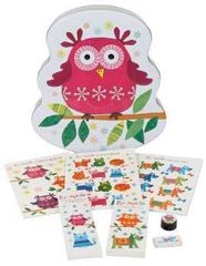 Activity Tin with lots of accessories - Owl Design