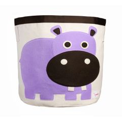 3 Sprouts Toy Basket - Purple Hippo