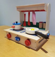 Table toy wooden toy kitchen - wood