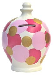 Terramundi Money Pot - Pink spots