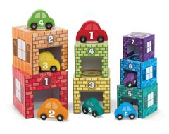 Melissa and Doug Stacking and Sorting Garages and Cars
