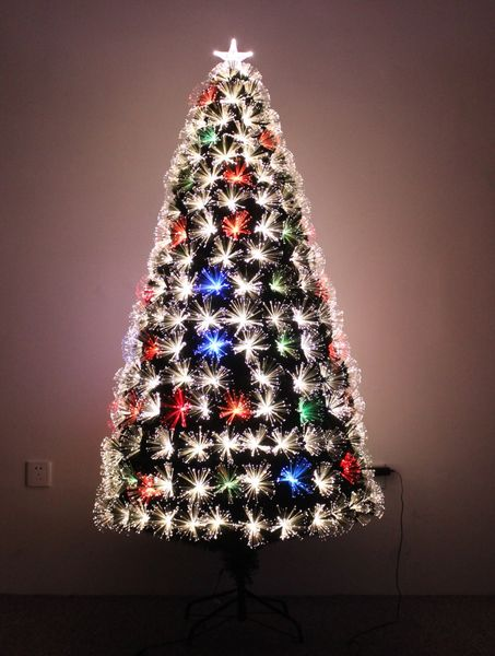 firework multi colour fiber optic christmas tree