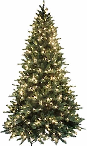 Pre Lit Starlight Mountain Spruce Artificial Christmas