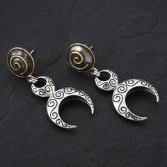26. Goddess - Sterling Silver & 24K Gold Plated Post Earrings