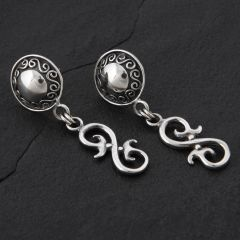16. Geo-016 - Sterling Silver Post Earrings