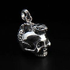 81. Skull and Snake - Sterling Silver Pendant