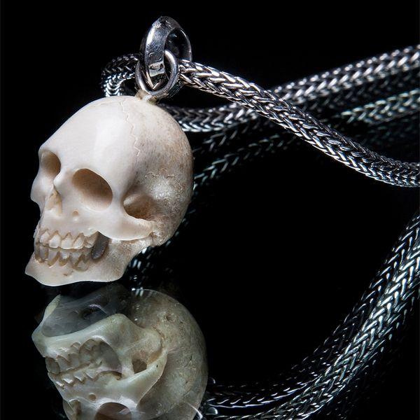 51. Skull/SterlingSilver/Bone/Pendant