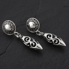 13. Geo-013 - Sterling Silver Post Earrings