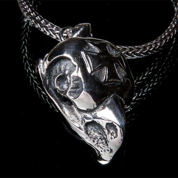 67. Bird Skull - Sterling Silver Pendant