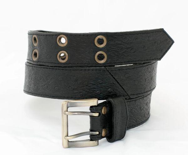 Ostrich Print - Leather Belt - 3A