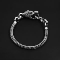 91. Dragon - Sterling Silver Bracelet