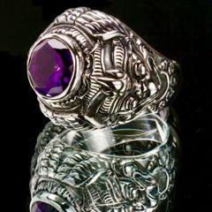 61. Garuda - Sterling Silver/Ring/Amethyst