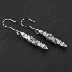 03. Geo-003 - Sterling Silver Drop Earrings