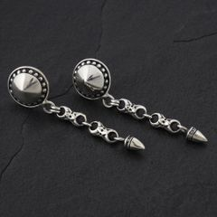 12. Geo-012 - Sterling Silver Post Earrings