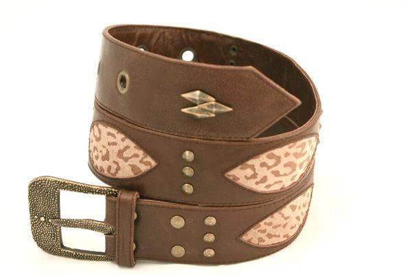 Cheetah Print - Leather Belt - 1I