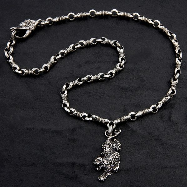 29. Tiger/SterlingSilver/Necklace