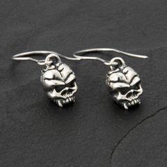 44. Skulls - Sterling Silver Drop Earrings