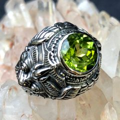 61. Garuda - Peridot Sterling Silver Ring