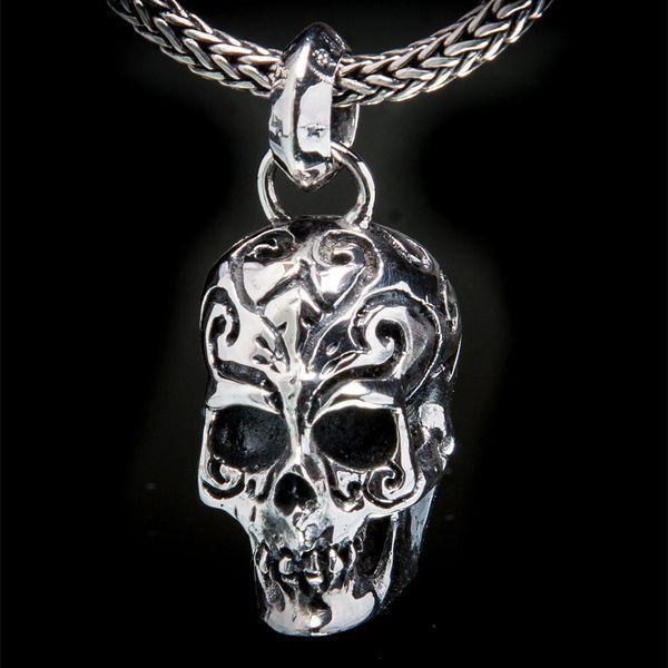 65. Tattoo Skull - Sterling Silver Pendant