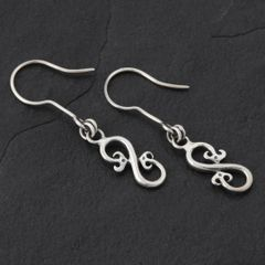 15. Geo-015 - Sterling Silver Drop Earrings