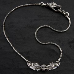 33. Skull and Wings - Sterling Silver Necklace