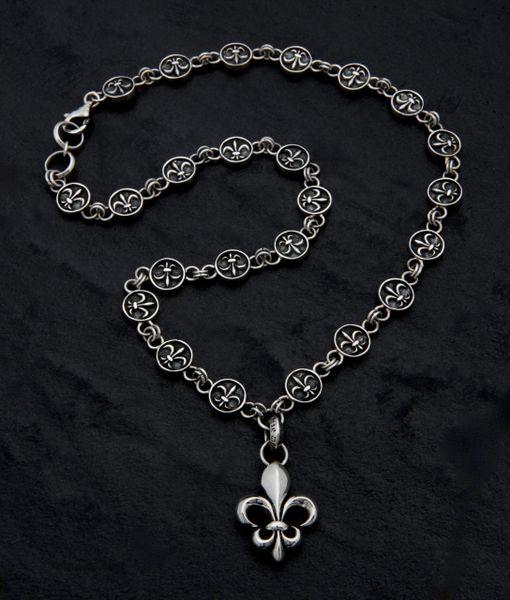21. Fleur de Lis - Sterling Silver Necklace