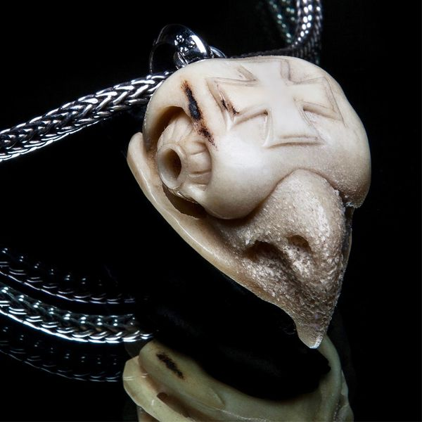 67. Bird Skull - Sterling Silver Bone Pendant