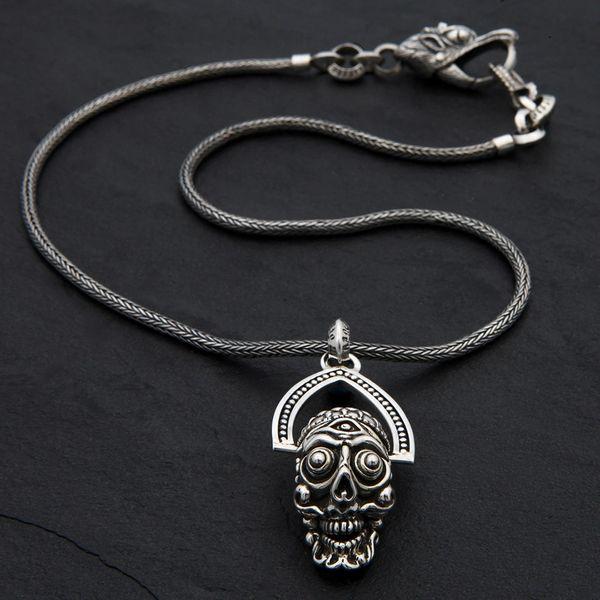 56. Tibetan Skull - Sterling Silver Necklace