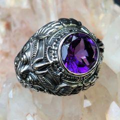 61. Garuda - Amethyst Sterling Silver Ring