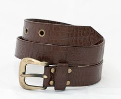 Crocodile Print - Leather Belt - 3C