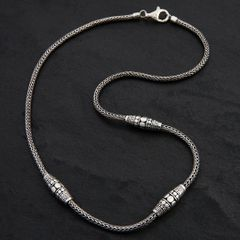 02. Geo-002 - Sterling Silver Necklace