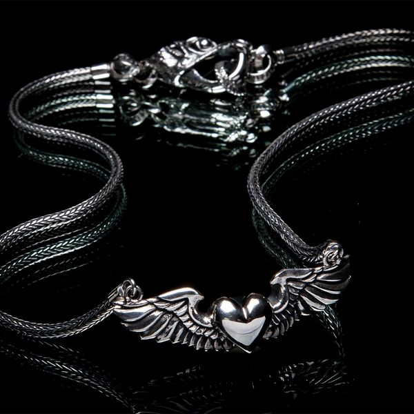 63. Heart with Wings - Sterling Silver Necklace