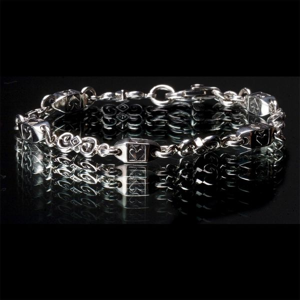 19. Ace of Spades - Sterling Silver Bracelet