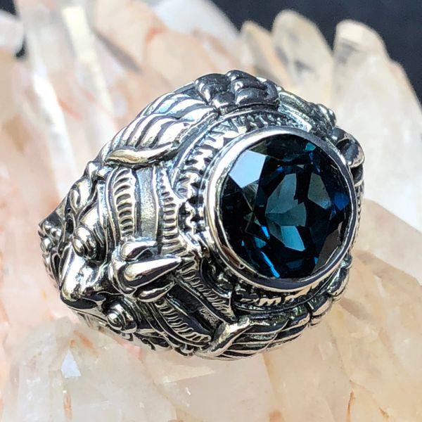 61. Garuda - London Blue Topaz Sterling Silver Ring