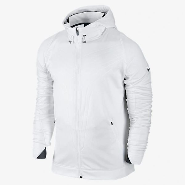 07d33624aeae Nike Kobe Mambula Hyper Elite Full-Zip Hoodie White Black Gray ...