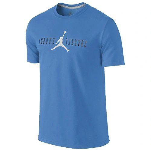48375bd099a8f5 Jordan Retro 11 OG Font T-Shirt Legend Blue Black White