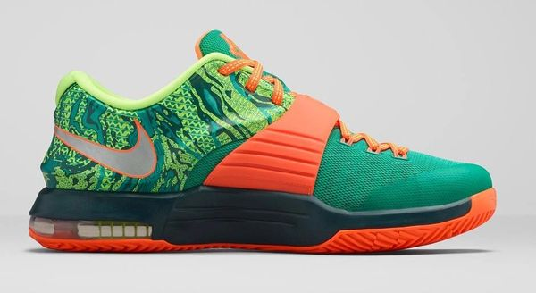 pretty nice 97f14 d0240 Nike KD 7 Weatherman Emerald Green Dark Emerald Total Orange   Pure Fire  Kicks