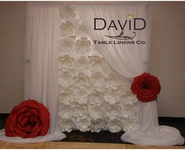 Paper Flower Backdrop David Table Linens Co