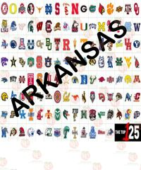 College Team colors Siser HTV or Oracal 651 packs ~ Arkansas