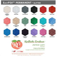 """Siser Easy PSV Glitter Vinyl 12x12"""""""