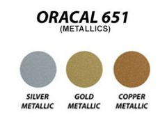 """Oracal 651 metallics - 12"""" x 10 yard roll"""