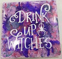 Alcohol Ink Tile Class- Sept 6, 7 pm