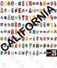 College Team colors Siser HTV or Oracal 651 packs ~ California
