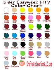 """Siser EasyWeed One of every color Pack - 15""""x12"""" Sheets"""