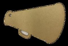Megaphone Clear Acrylic Blank