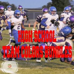 High School Team colors Siser HTV or Oracal 651 packs