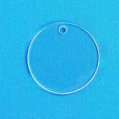 """Clear Round Acrylic Blanks 3"""" diameter 1/8"""" Thick - Set of 10"""