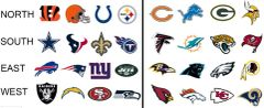 NFL Team colors Siser HTV or Oracal 651 packs