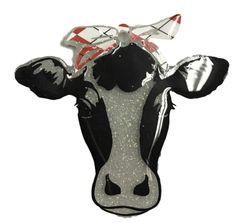 Cow with Bandana Clear Acrylic Blank