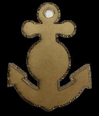 Anchor with circle Clear Acrylic Blank